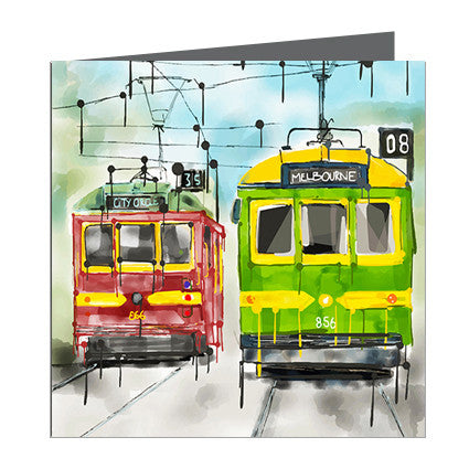 Card - Iconic Melbourne Trams
