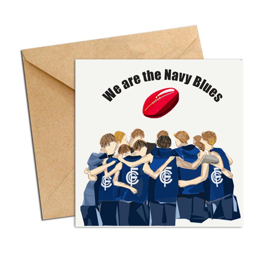 Card - AFL  - Football navy blue