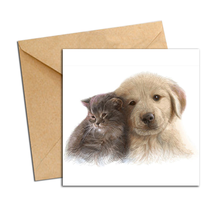 Card - Cat and Dog Best friends