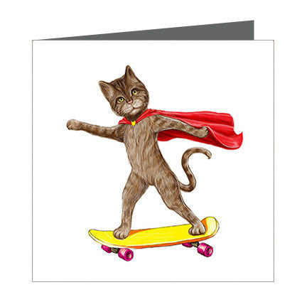 Card - Cat on Skateboard