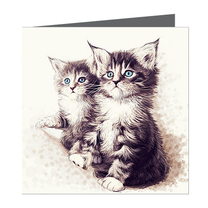 Card - Cats 2 grey