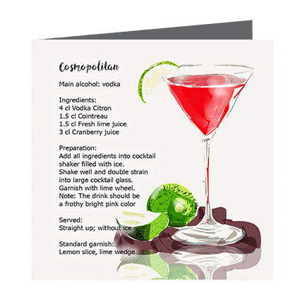 Card - Cocktail Cosmopolitan