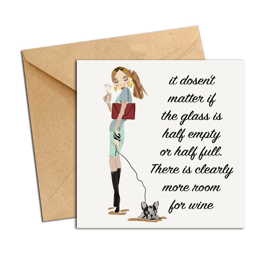 Card - Quote - There's clearly more room for wine.