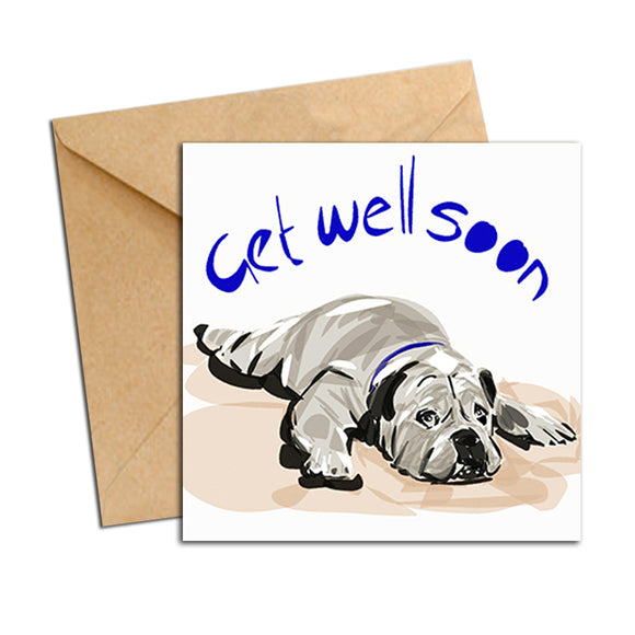 Card - Quote - Dog Get Well Soon