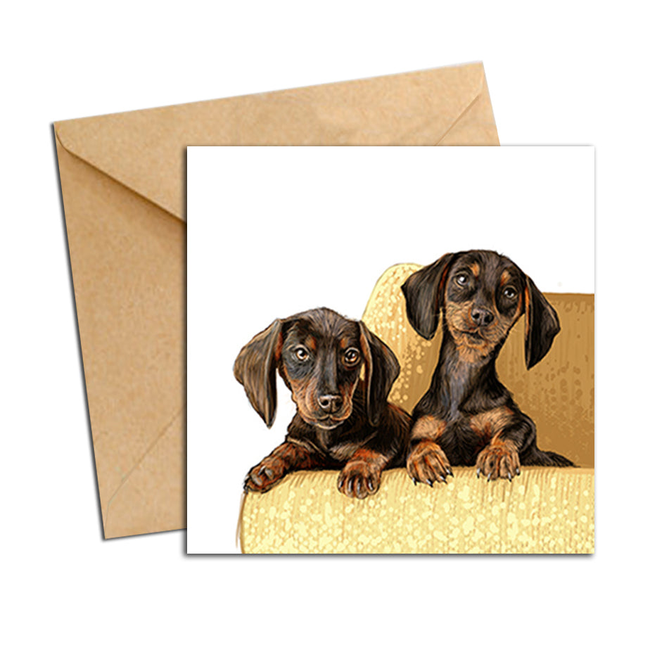 Card - Dog - Dachshunds