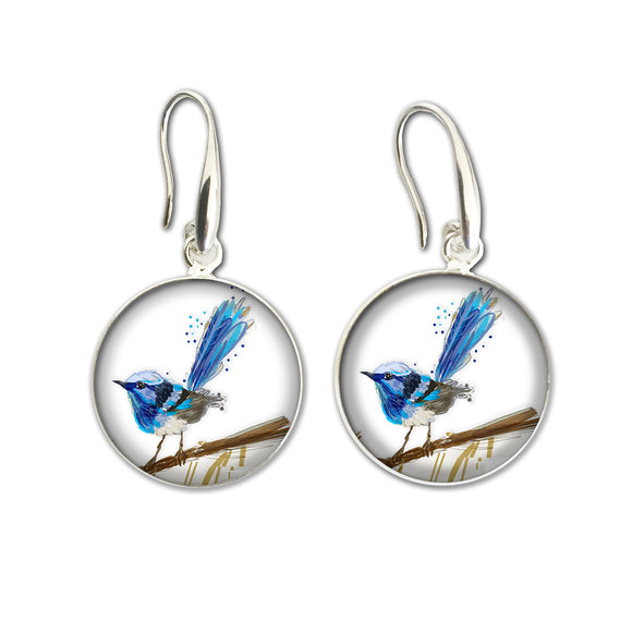Earrings Drop (Aus) - Wren Blue