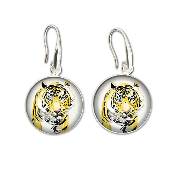 Earrings Drop (ALF) - Tiger