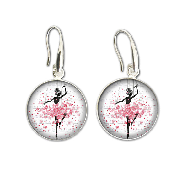 Earrings Drop Heart Ballerina