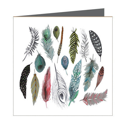 Card - Feathers Various
