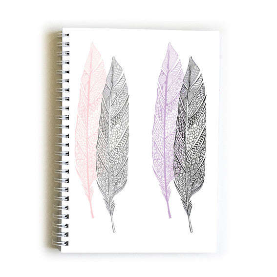 Note Book A5 - Feathers Zen