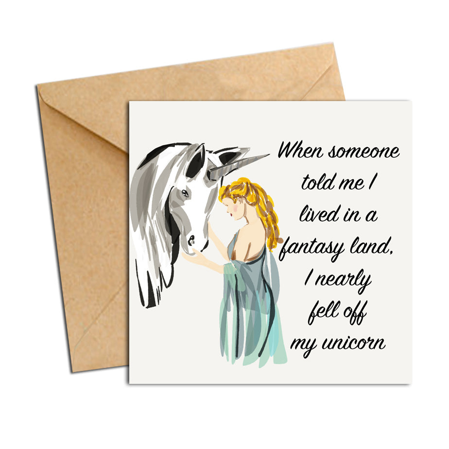 Card - Quote - Fell off my Unicorn