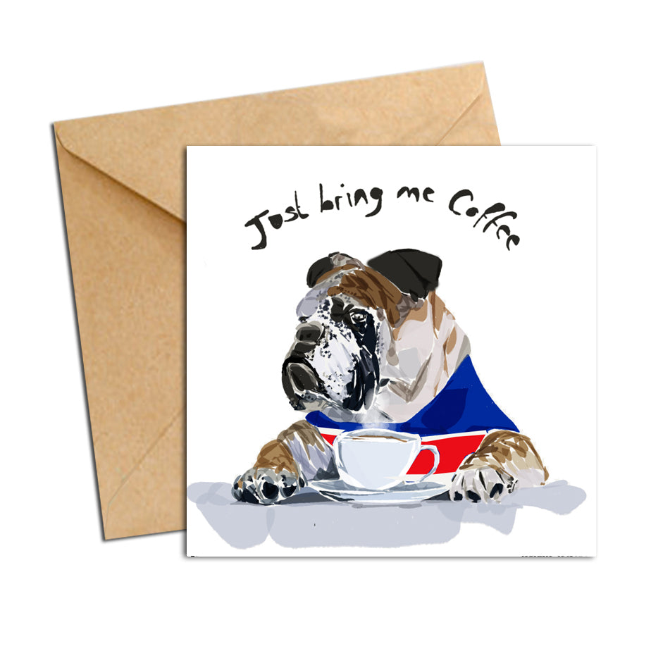 Card - Dog - Bulldog Coffee