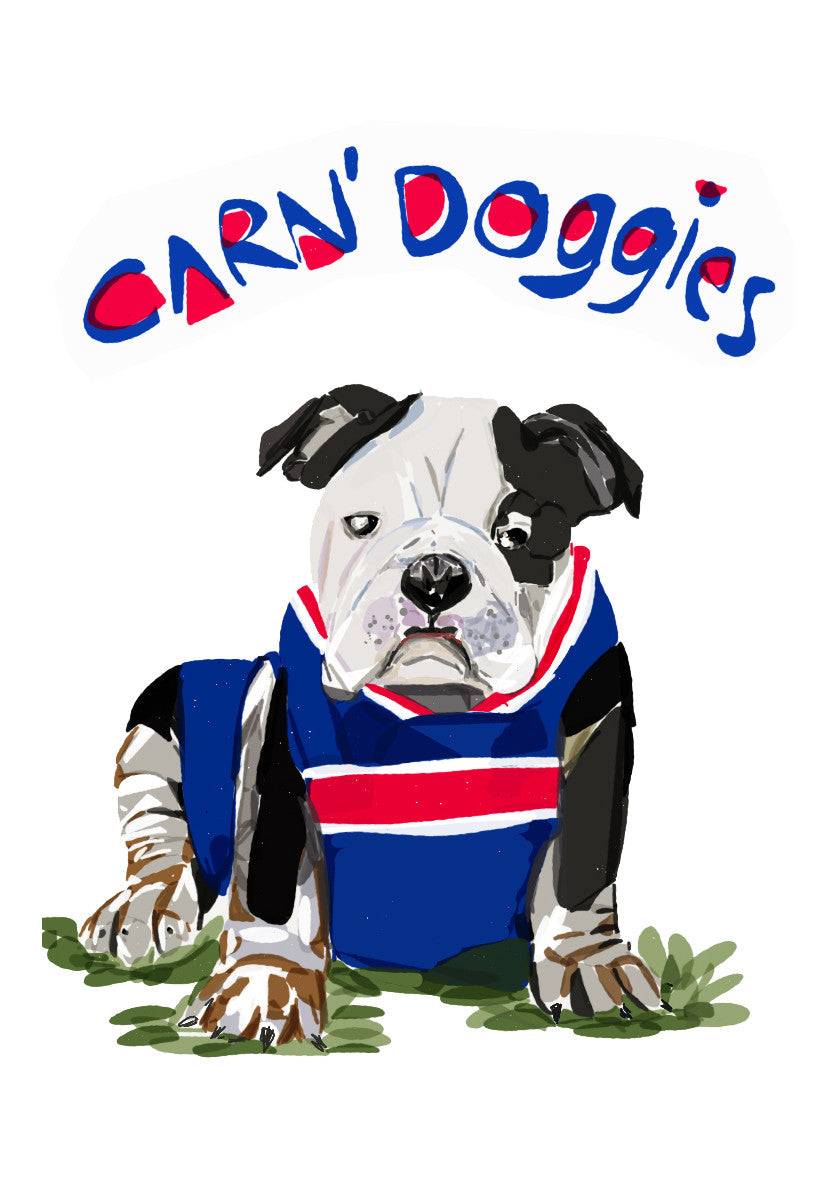 Print Football AFL - Carn Doggies