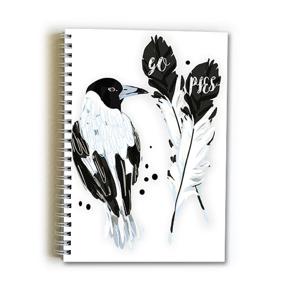 Note Book A5 - Football Collingwood Magpies