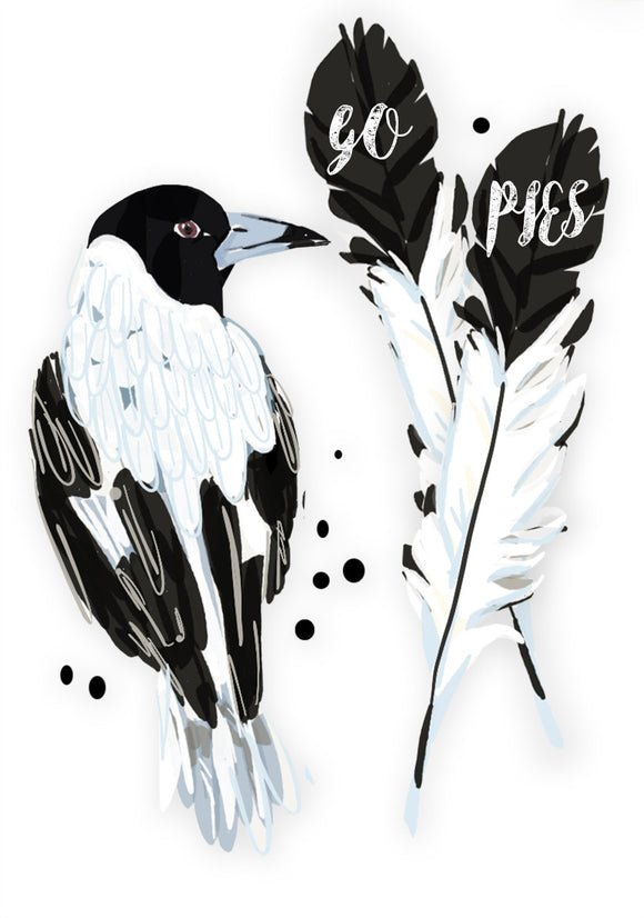 Print Football AFL - Magpies