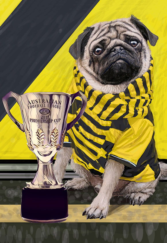 Print Football AFL - Richmond Pug Premier