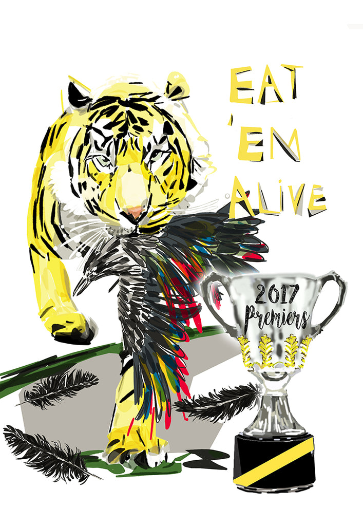 Print Football AFL - Richmond Tiger with Crow Premier