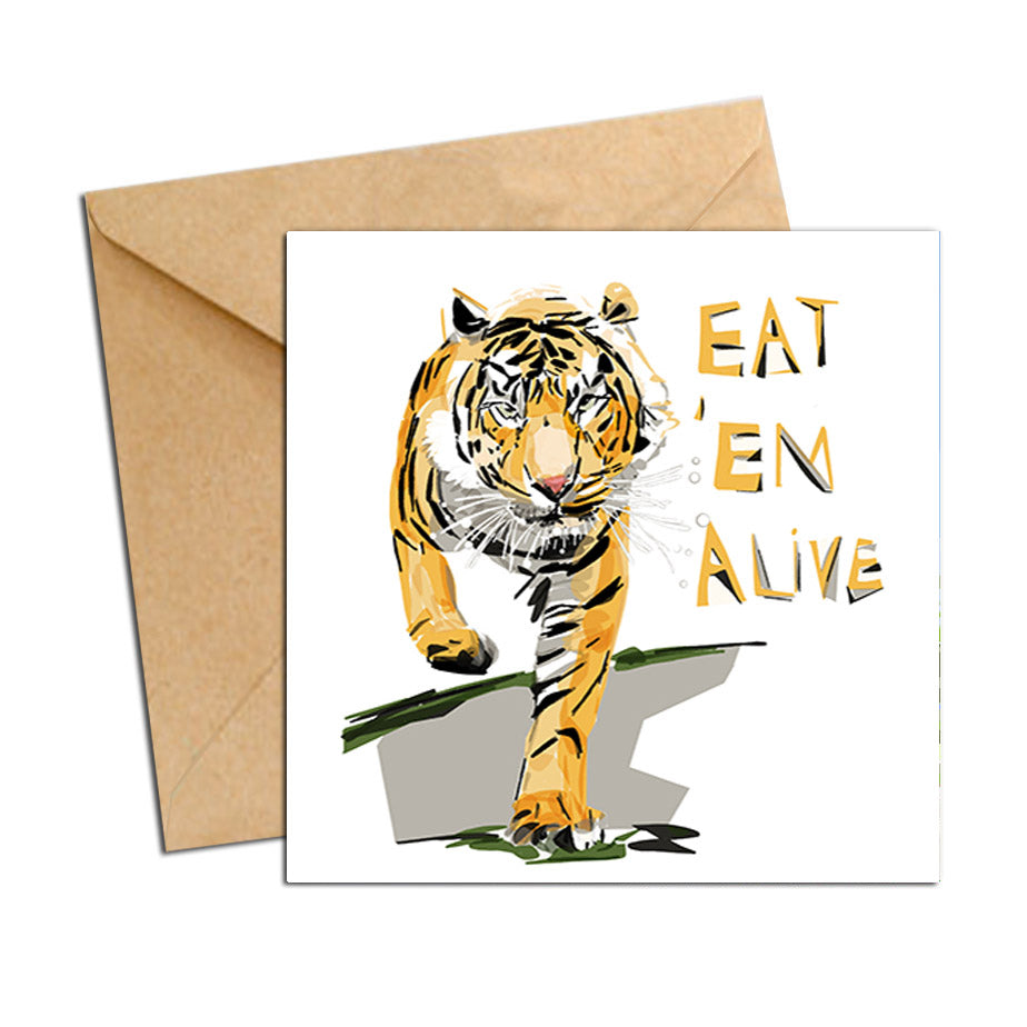 Card - AFL Tigers Eat 'em alive