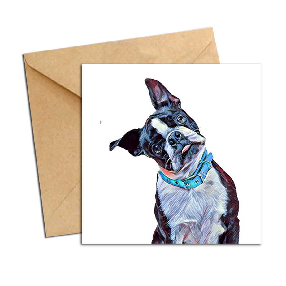 Card - Dog French Pug