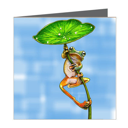 Card - Frog with Lilly Leaf
