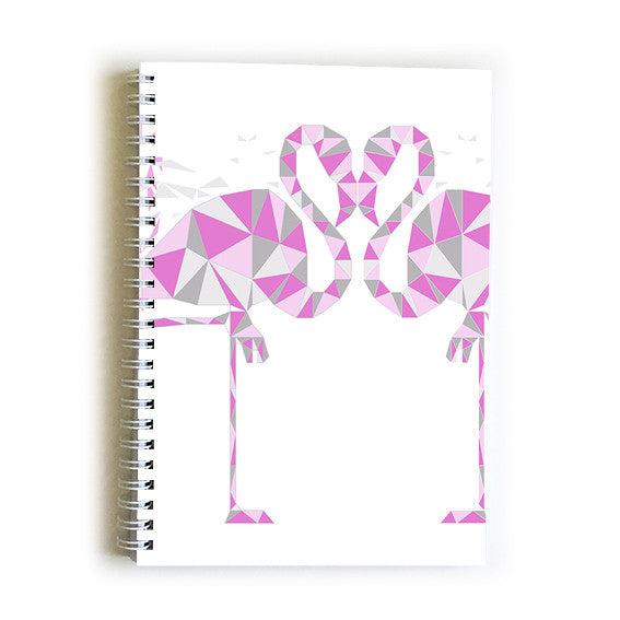 Note Book A5 - Geometric Flamingos
