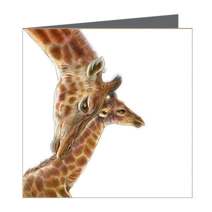 Card - Giraffe and Calf