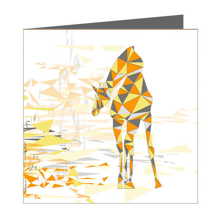 Card - Giraffe Geometric