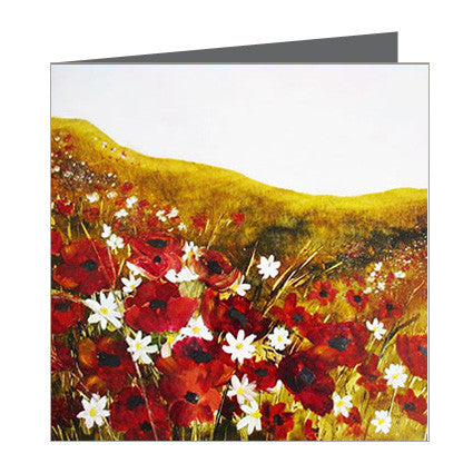 Card - Glosia - Field of Poppies