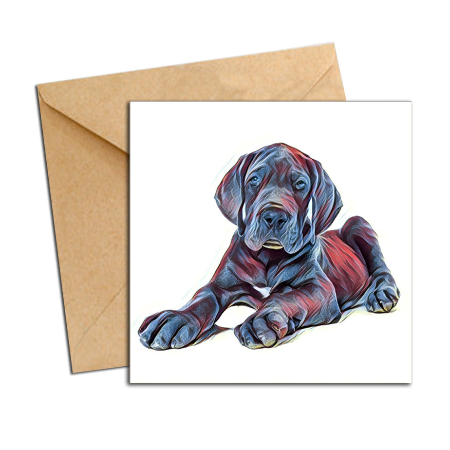 Card - Dog Great Dane Puppy