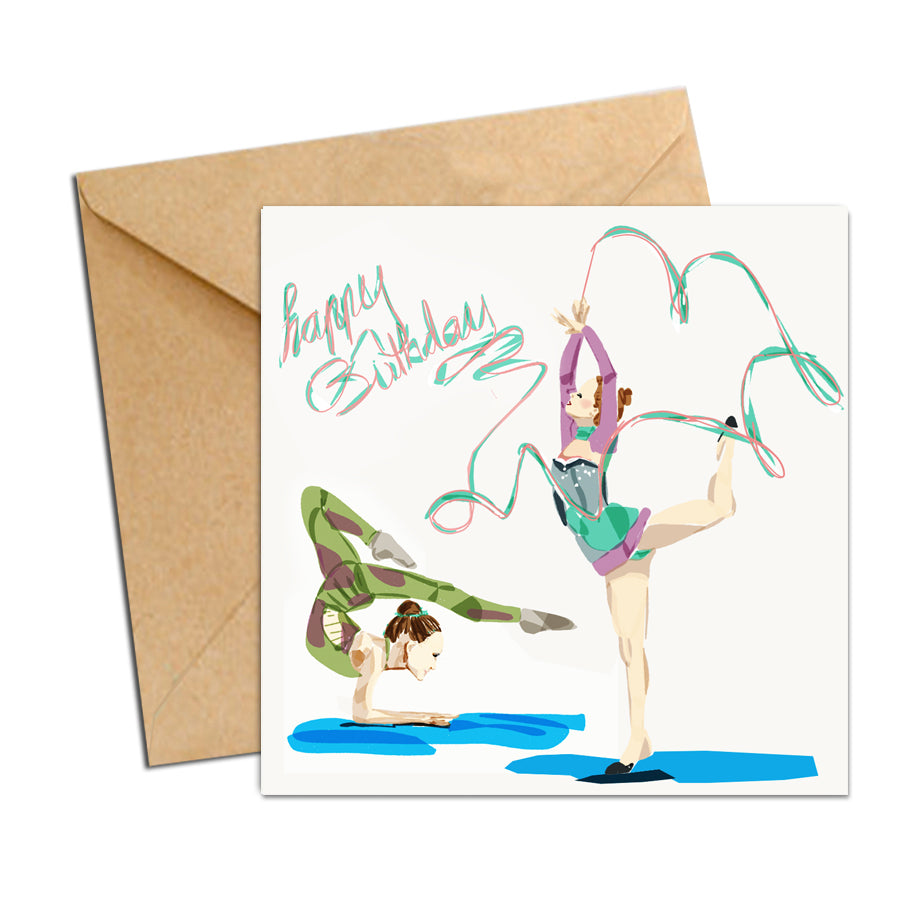 Card - Sports - Happy Birthday Gymnastics