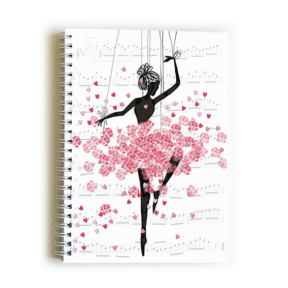 Note Book A5 - Heart Ballerina