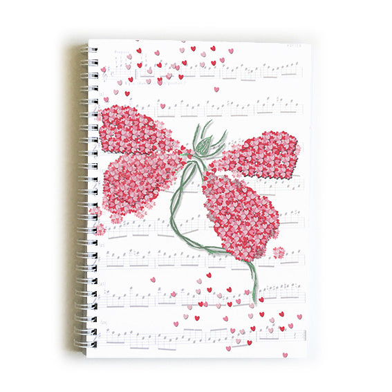 Note Book A5 - Heart Dragon Fly