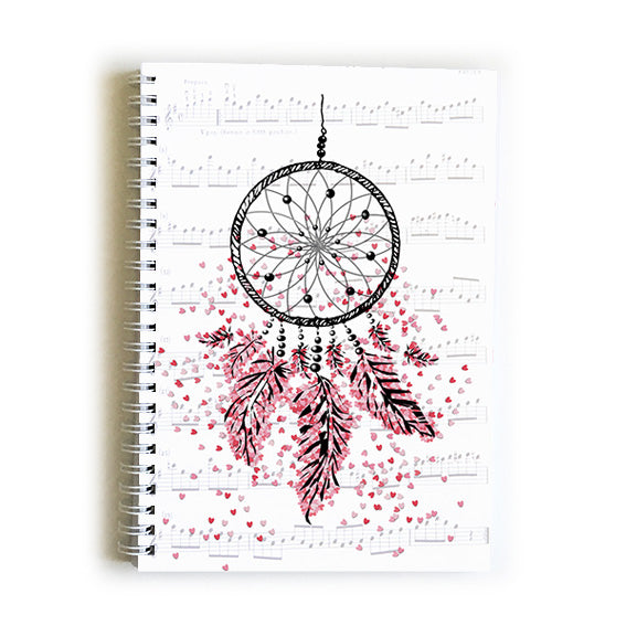 Note Book A5 - Heart Dream Catcher