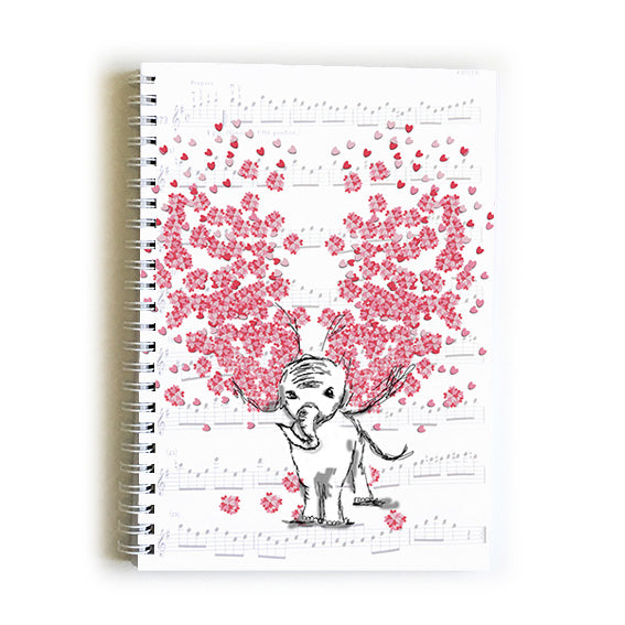 Note Book A5 - Heart Elephant