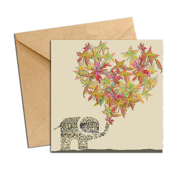 Card - Heart Elephant