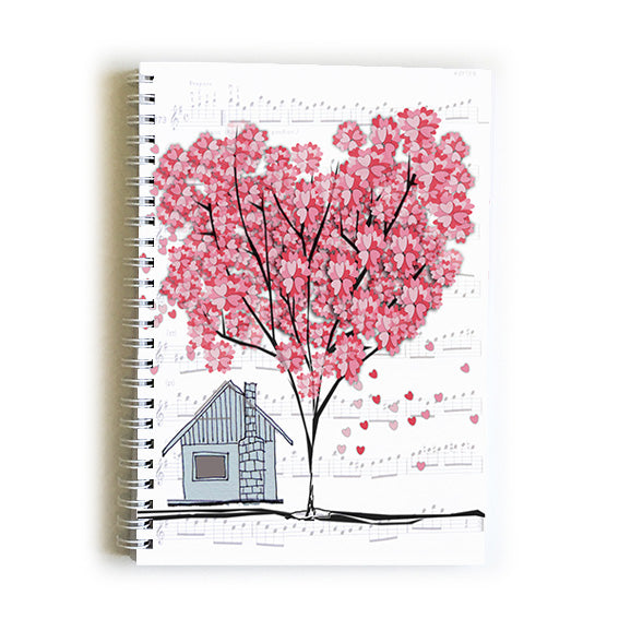 Note Book A5 - Heart Tree house