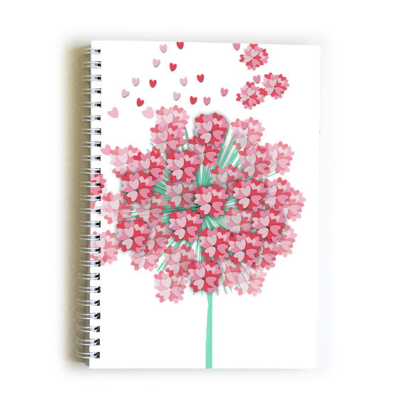 Note Book A5 - Heart Wish Flower
