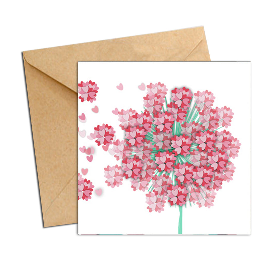 Card - Heart Confetti  - Wish Flower