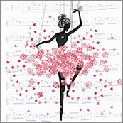 Small Cards (Pack of 10) - Heart Confetti Ballerina
