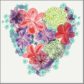 Small Cards (Pack of 10) - Heart Bloom