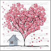 Small Cards (Pack of 10) - Heart Confetti Tree House