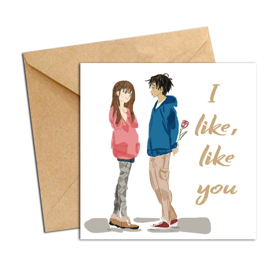 Card - Love - I like, like you