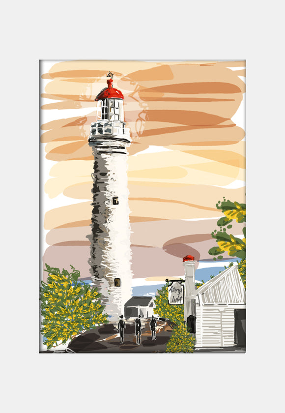 Print (Iconic) - Bellarine Airey's inlet Lighthouse Sunset