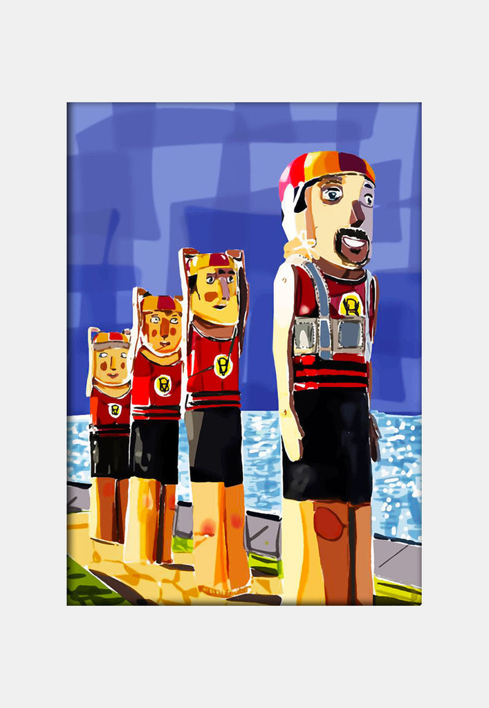 Print (Iconic) - Bellarine Geelong Beach Bollards