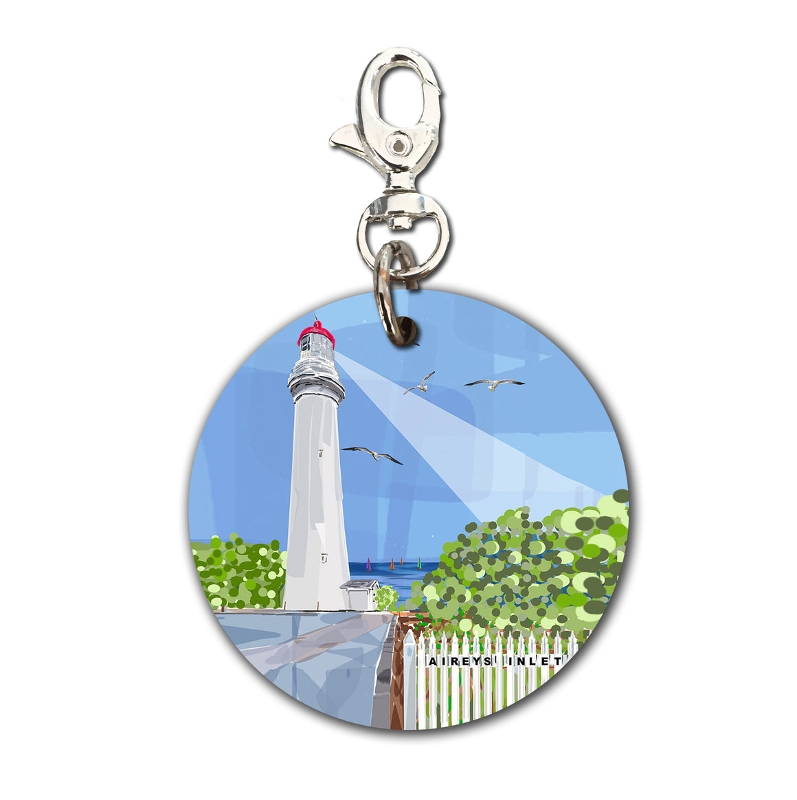 Keyring (Circular) - Iconic Bellarine Airey's Inlet Light House