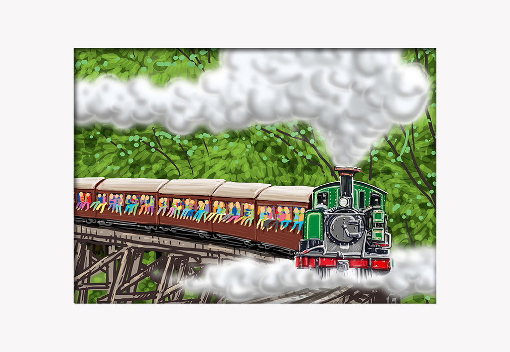 Print (Iconic) - Melbourne Puffing Billy (Landscape)
