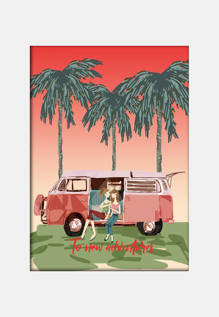 Print  - Kombi girls New adventures