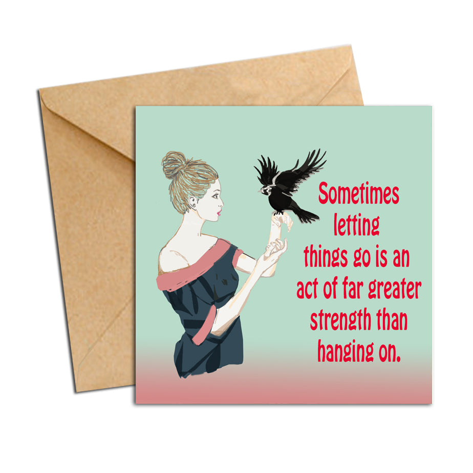 Card - quote letting go