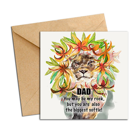 Card - Dad Lion Biggest Softie