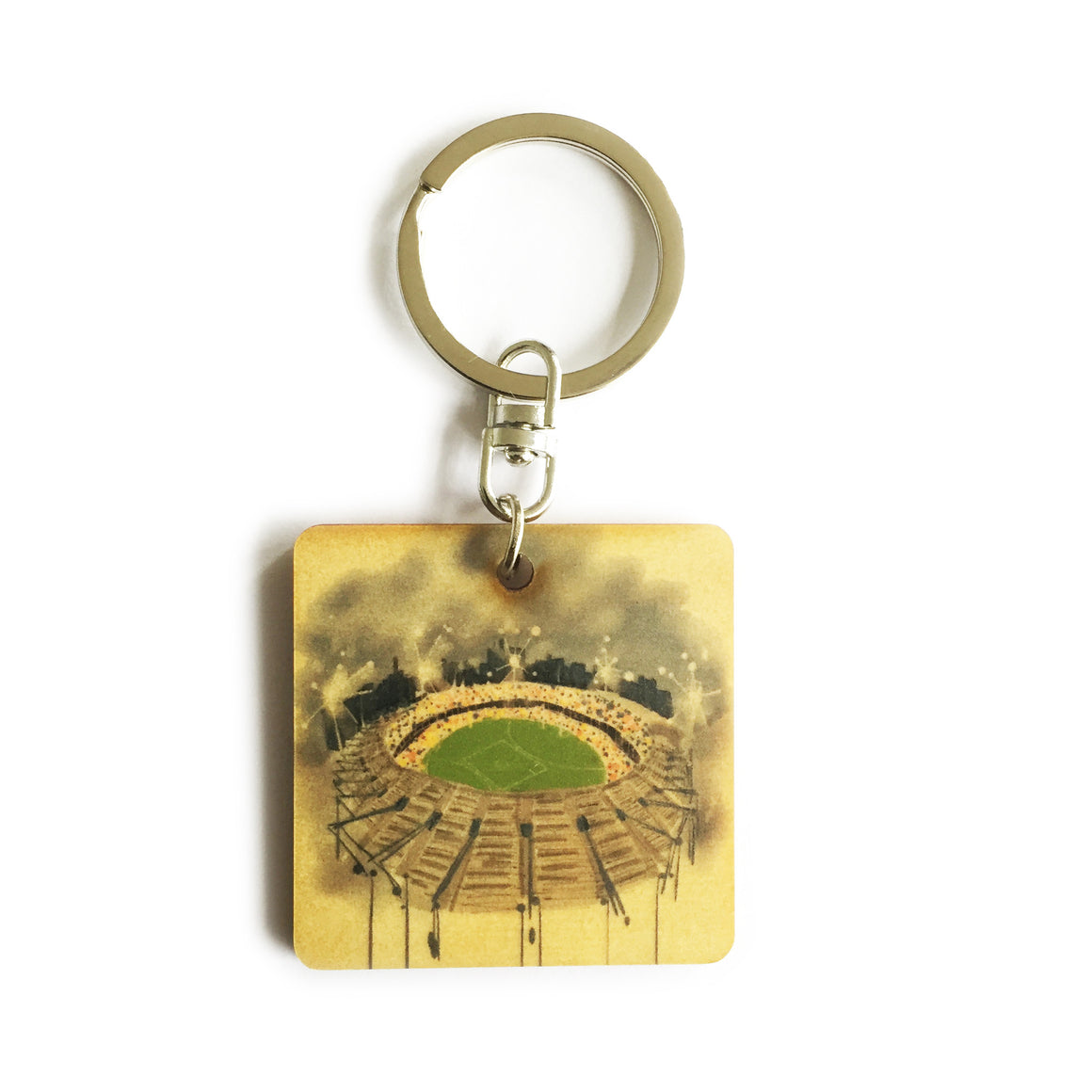 Keyring - Timber keyring with MCG print